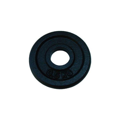 Capetan® | Súlytárcsa (0,5kg, acél tárcsasúly, 31mm átm. Lukkal, fekete selyemfényű festék bevonattal)