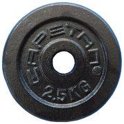 Capetan® | Súlytárcsa (2,5kg, acél tárcsasúly, 31mm átm. Lukkal, fekete selyemfényű festék bevonattal)