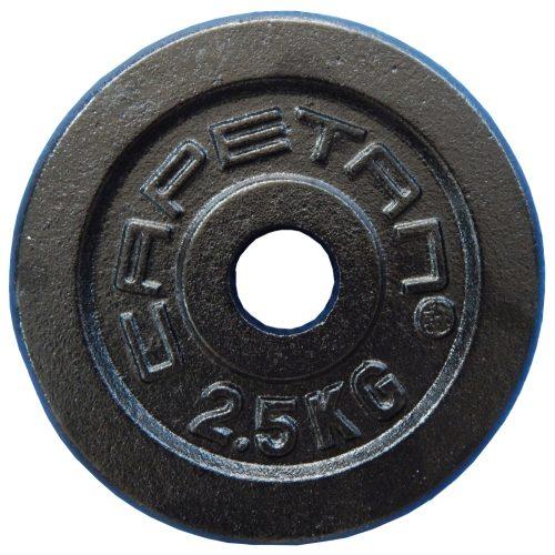 Capetan®   Súlytárcsa (2,5kg, acél tárcsasúly, 31mm átm. Lukkal, fekete selyemfényű festék bevonattal)
