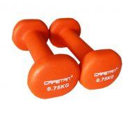Capetan®    Egykezes kézisúlyzó pár (2x0,75Kg, neoprene bevonatú kézisúlyzó)