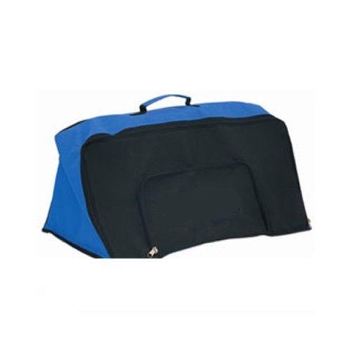 Mini gát szett (6 db 30 cm magas elemekkel) szállításához, tárolásához speciális kialakítású sporttáska oldalt nyíló cipzáras rekesszel két külön tárolóval a sport felszereléseknek