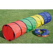 Játszó alagút (színes polieszter, összecsukható pop-up bújócska cső)