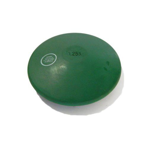TacticSport | Gumi tréning diszkosz (1,25kg, zöld színű, nem hagy nyomot a padlón)