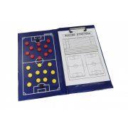 Football taktikai tábla (mágneses, clippes)