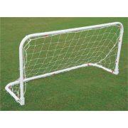 Összehajtható fém focikapu (2x1x0,5m, hordzsákkal)