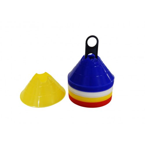 TacticSport MiniDome | Labdarúgó boja szett (jelzőkorong, bottartó bevágással 40 db-os tányér bója szett, 14x6,5 cm jelzőtányér)