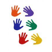 TacticSport   Padlójelölő  szett (kéz forma csúszásgátló gumiból 14,5x14,5 cm, 6 eltérő szín, 6 kézpár)