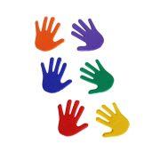 TacticSport | Padlójelölő  szett (kéz forma csúszásgátló gumiból 14,5x14,5 cm, 6 eltérő szín, 6 kézpár)