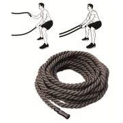 Crossfit professzionális vastag kötél (9 m hosszú, 5 cm átmérő, polipropilén csavart szálas)
