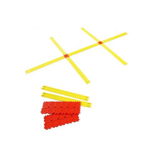 Agility létra szett (24 részes, tettszőlegesen formálható alakzatokhoz 90 elem 24 illesztővel)