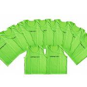 Jelzőtrikó garnitúra (10db, polyester, 68x51 cm, neon zöld színben)